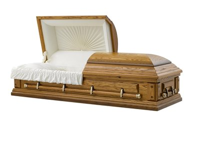 036 Cremation Ceremonial Rental Casket Solid Oak